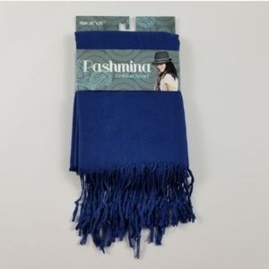 "PASHMINA Blue WEAVE FASHION SCARF/WRAP 64"" X 27"""